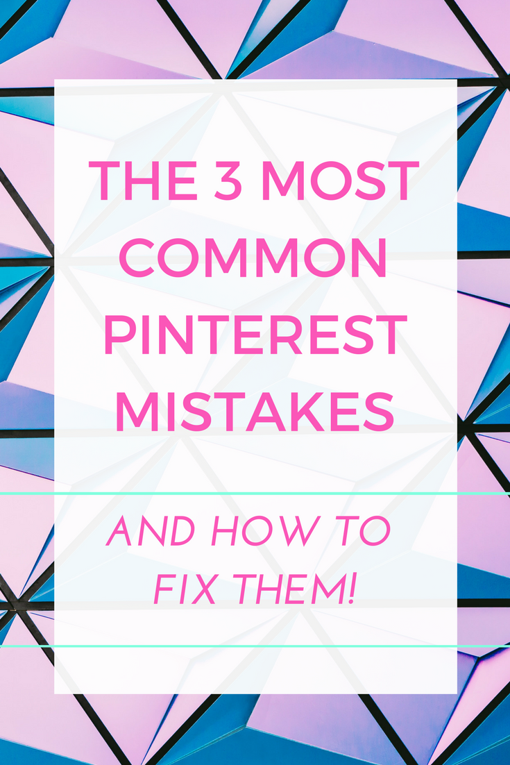 If you use Pinterest to help your blog or your business you need to make sure you're not making ANY of these common Pinterest mistakes, as they can all seriously harm your pinning and overall approach. Pinterest won't show your pins in the Smart Feed and you risk ruining all of your efforts. No.2 gets everyone all of the time.
