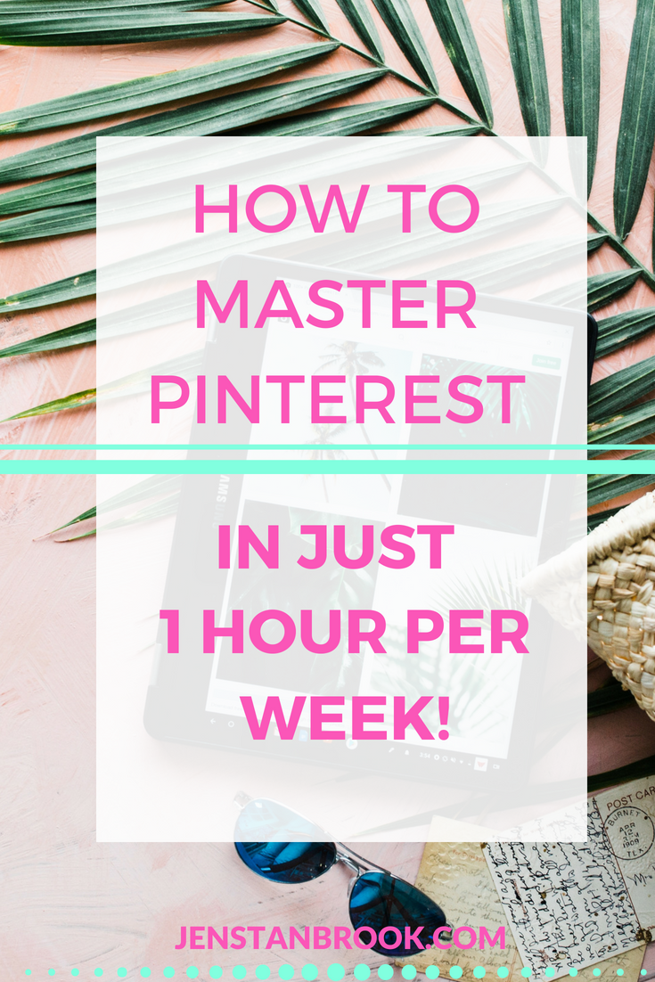 If you feel overwhelmed with the idea of how to make Pinterest work for your business, this mini strategy guide is all you need to building traffic, growing your list and making sales. Use Pinterest effectively in just 1 hour per week with this plan. #pintips #pinteresttips #pinterestmarketing