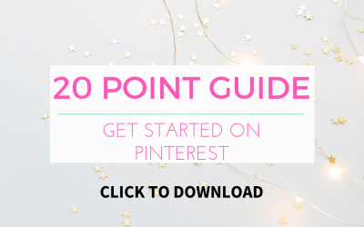 20 Point Guide to Getting Started with Pinterest